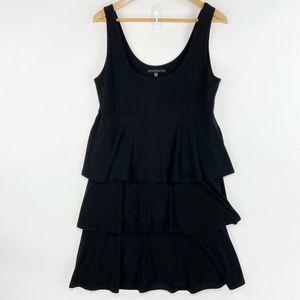 Tiana B Jersey Tiered Dress Black Scoop Neck  M